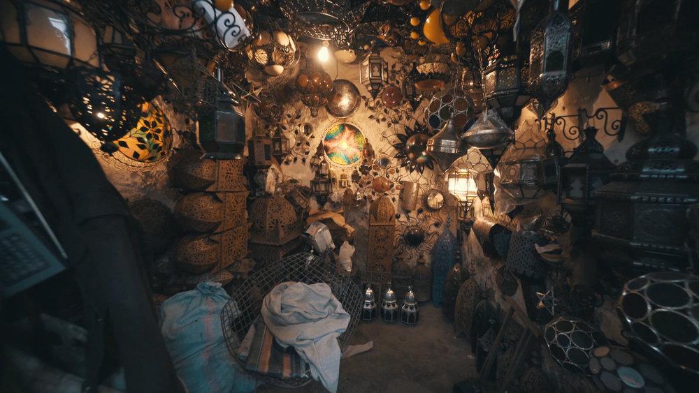 Craft store in Marrakesh