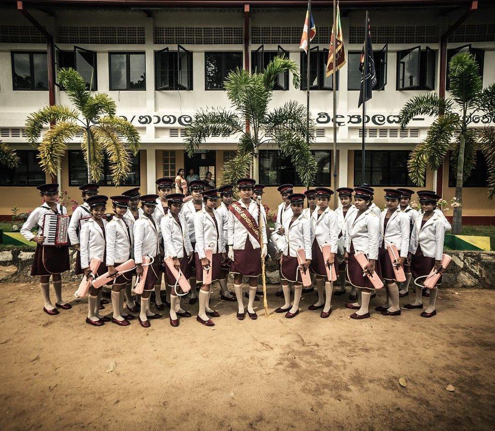 Marching band, Sri Lanka, 2017.