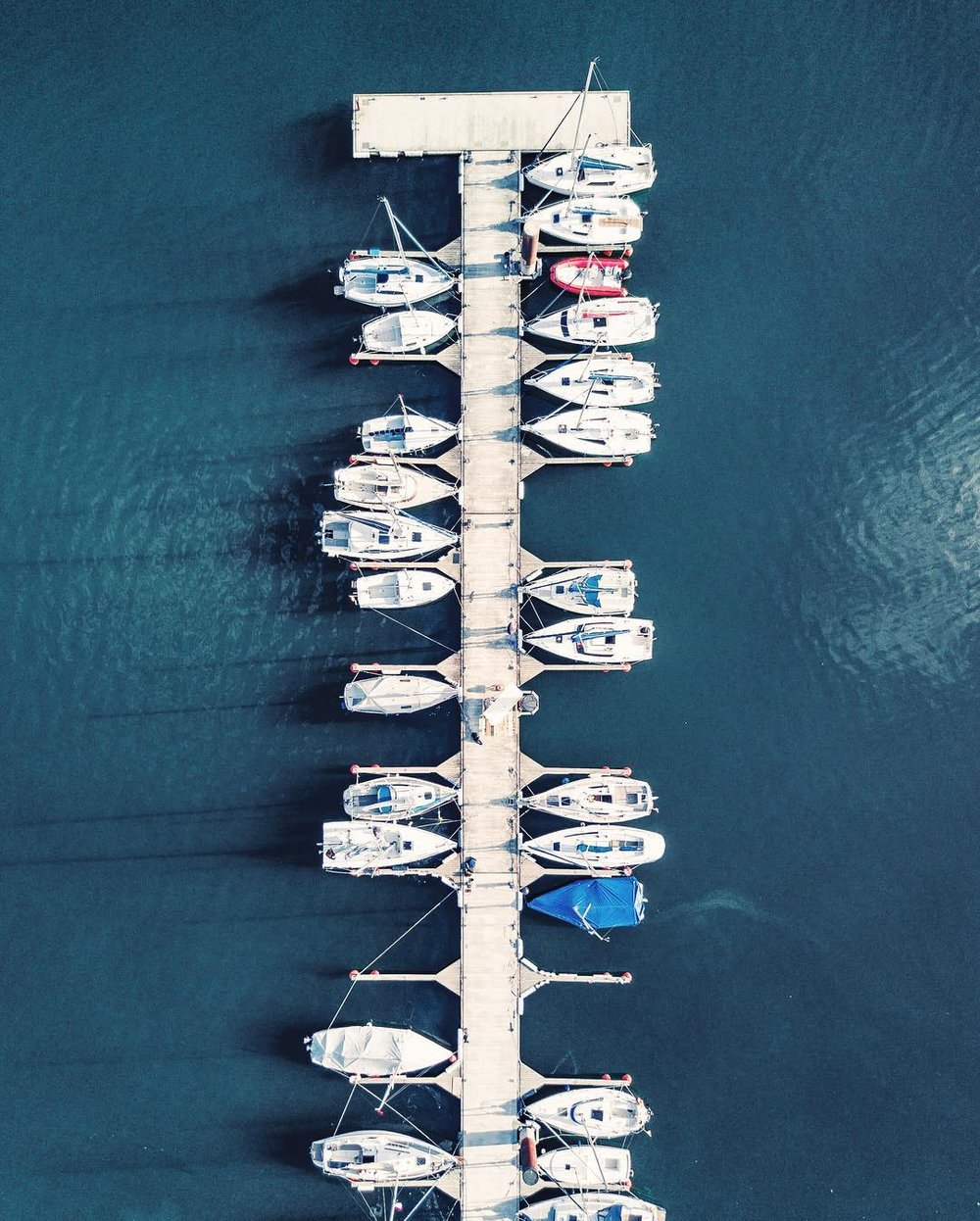 Boats. Brombachsee, Germany.