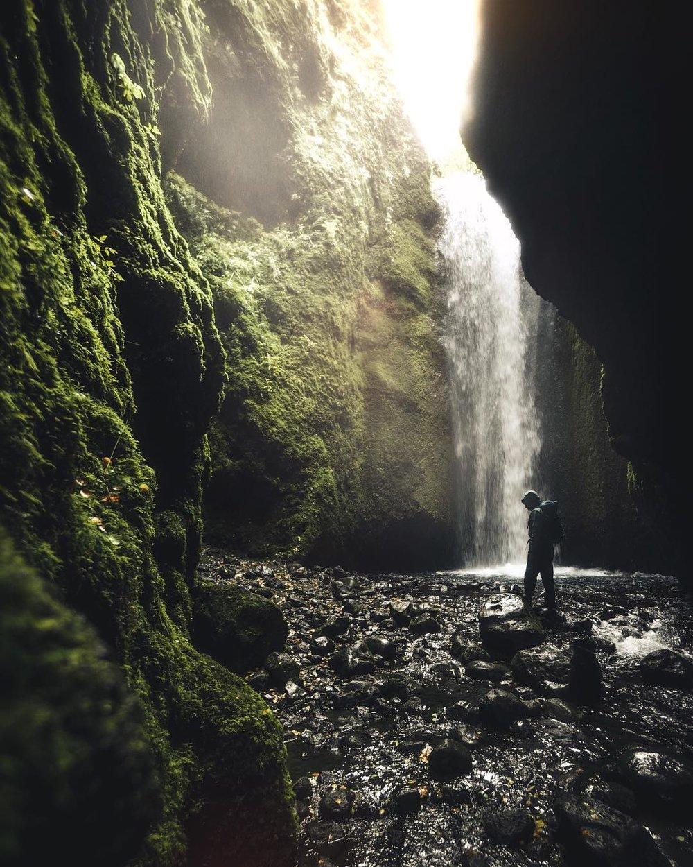 Waterfall, Iceland.