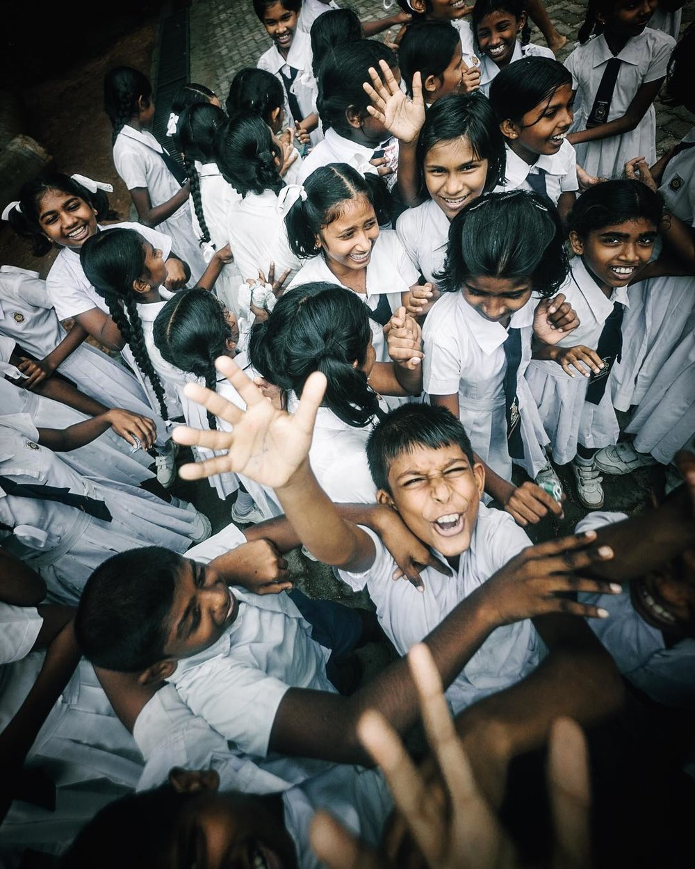 School kids, Sri Lanka, 2017.