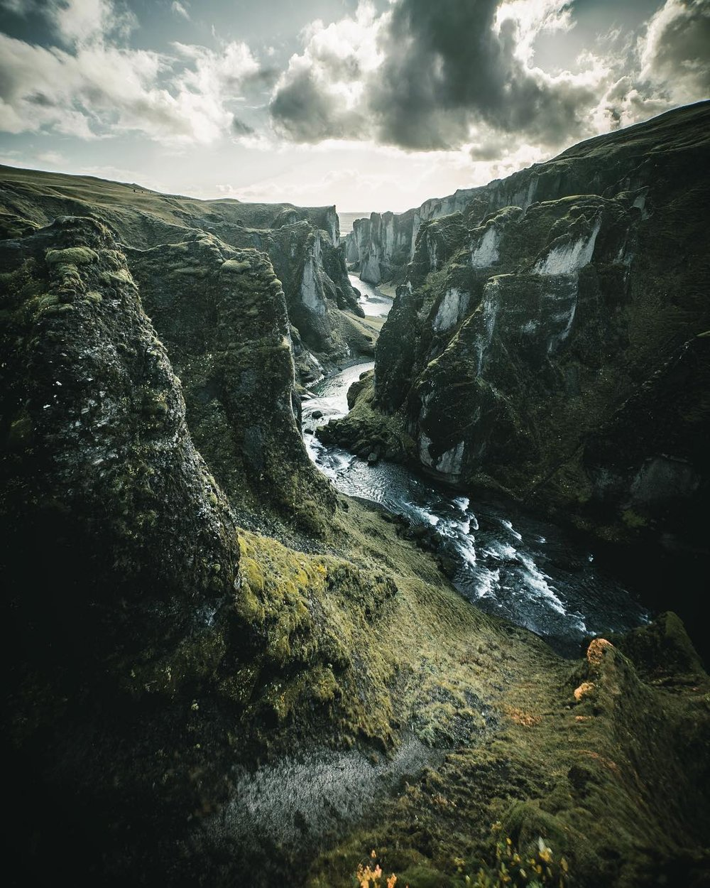 Icelandic canyon.