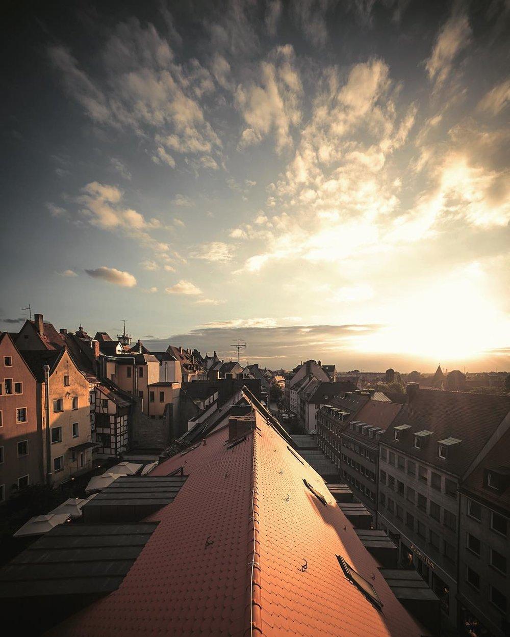 Rooftops of Nuremberg.