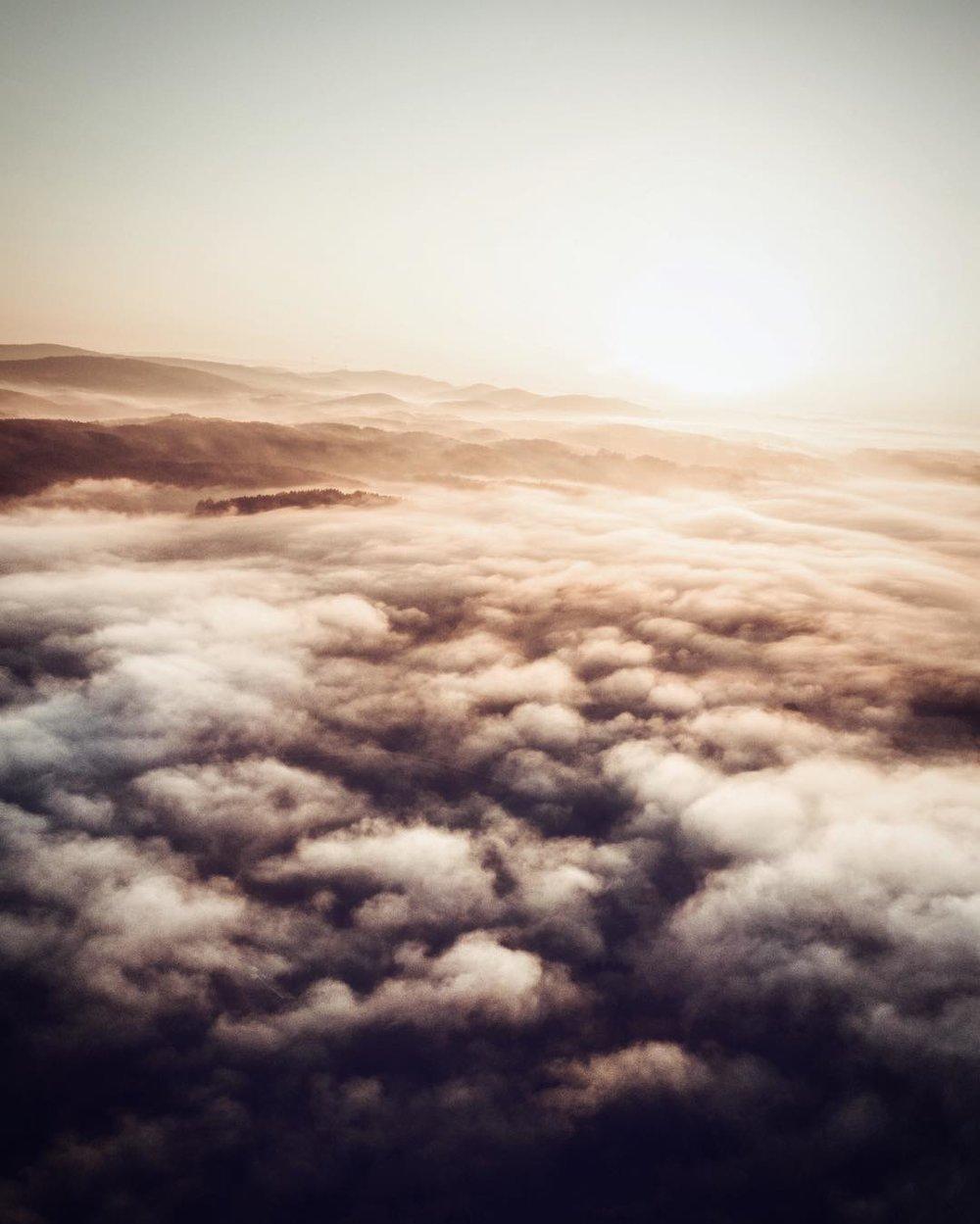 Misty mornings in Franconia.