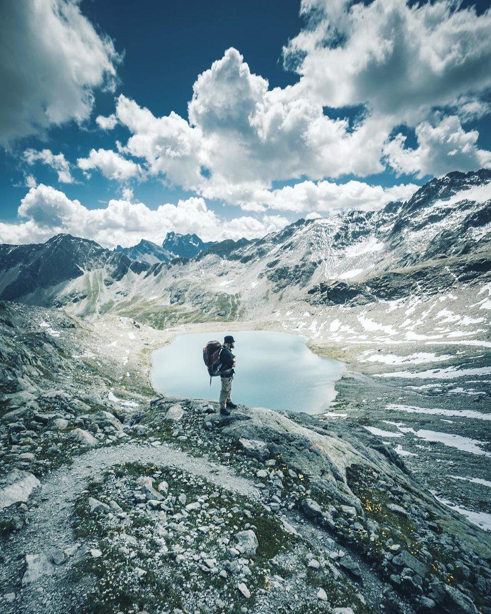 Ice cold mountain lake, Verwall, Austria.
