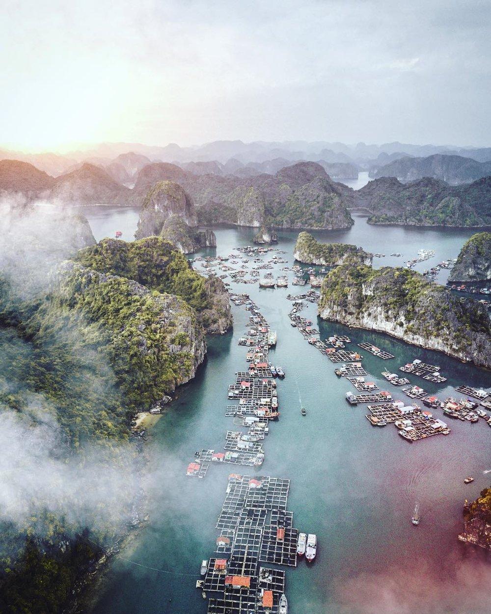 Swimming village, Vietnam.