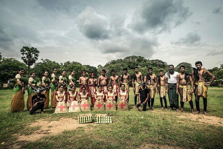 Dancing group, Sri Lanka.