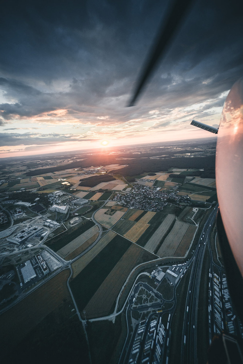 Helicopter sunset 2018.
