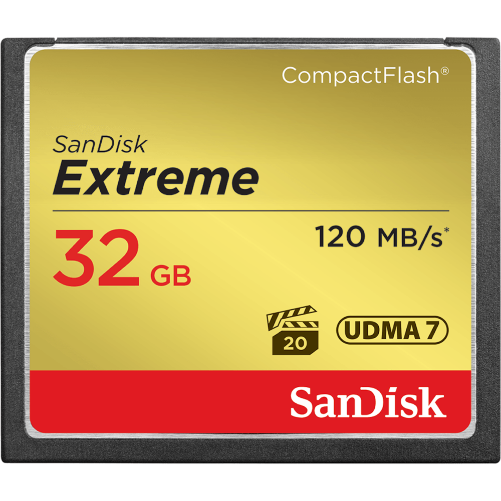 SanDisk Extreme Pro 32GB 120MB S CF HirebrGBP10 Day Or GBP30 Week