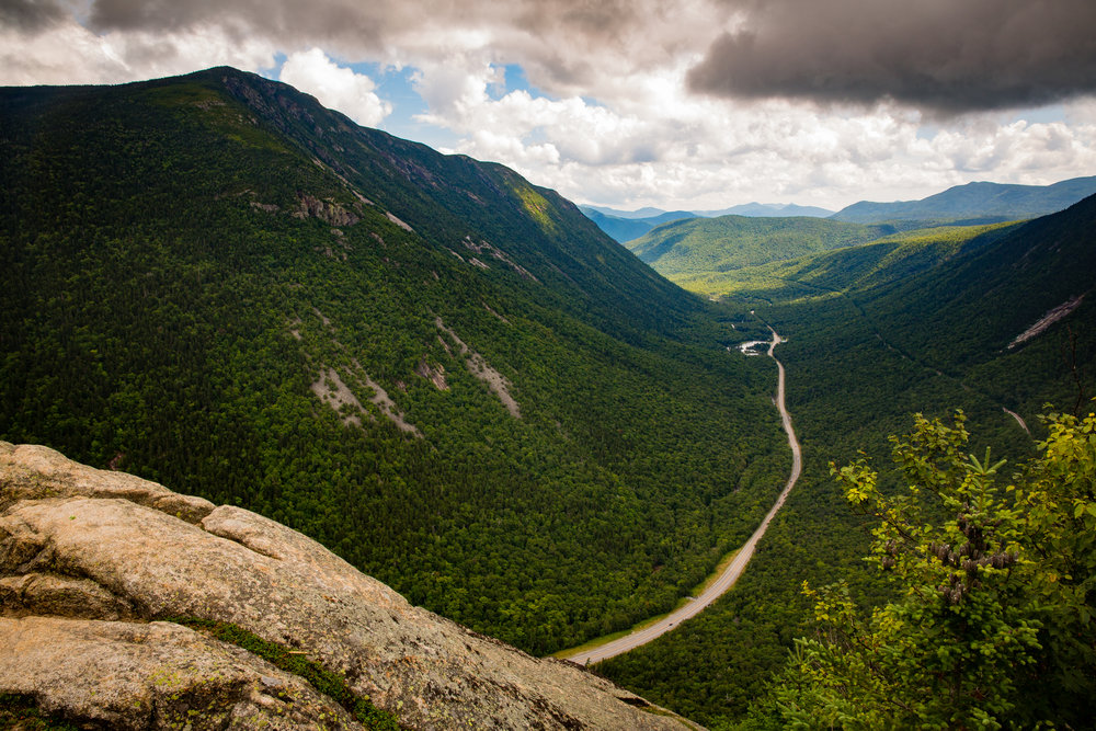 Looking south from the summit of Mt. Willard through Crawford Notch