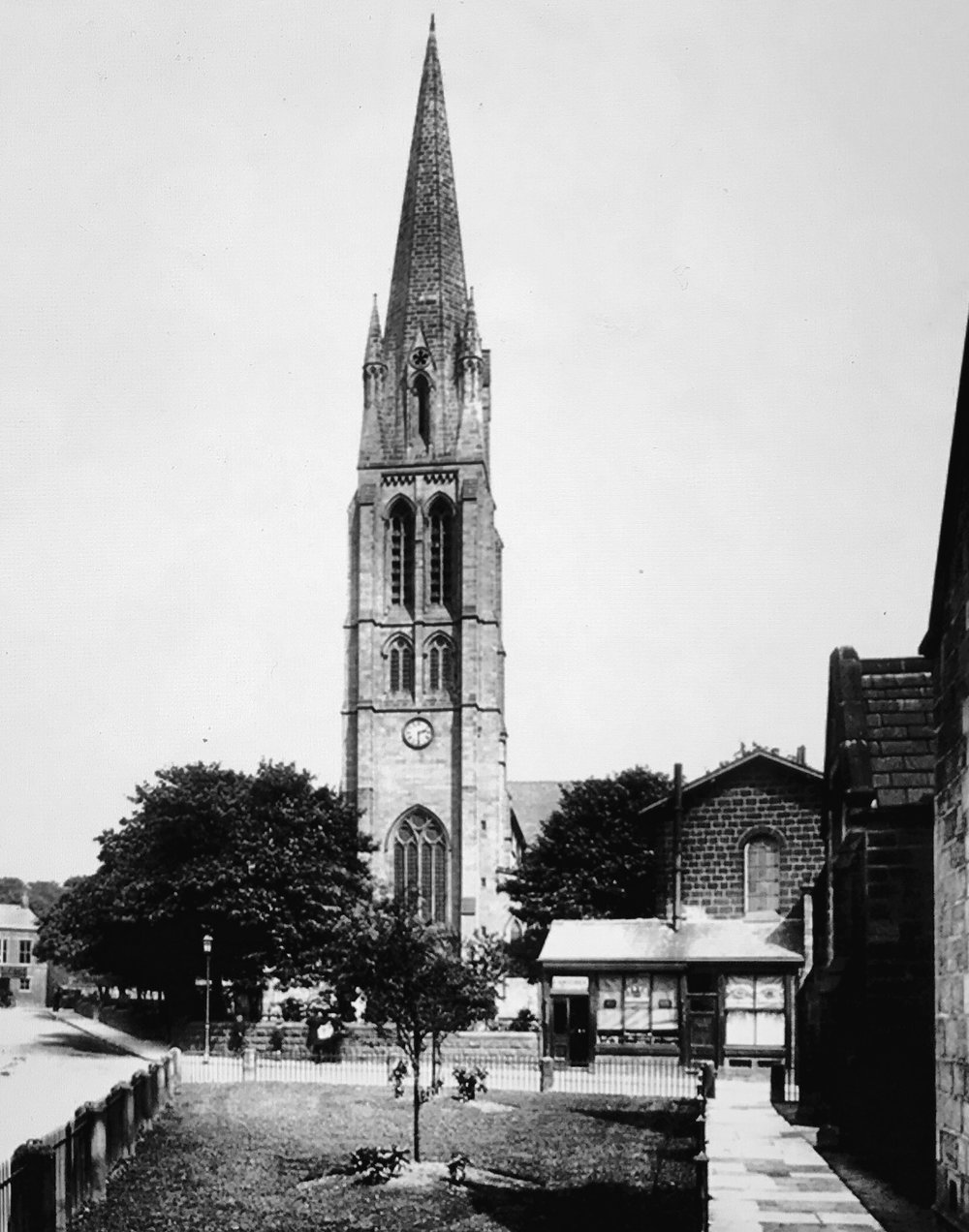 St Michael's Church and Green, circa 1897