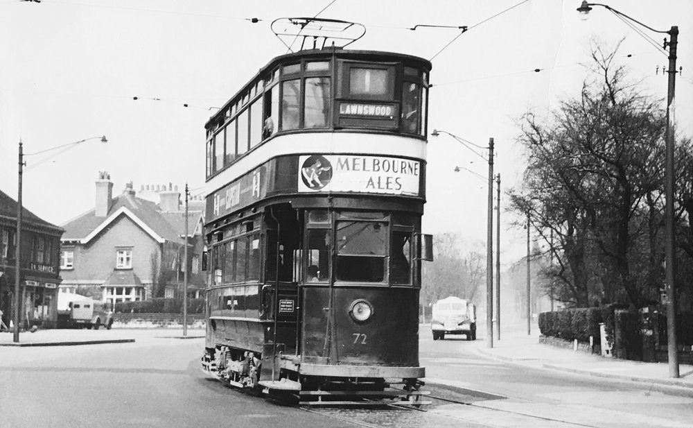 Otley Road with Tram
