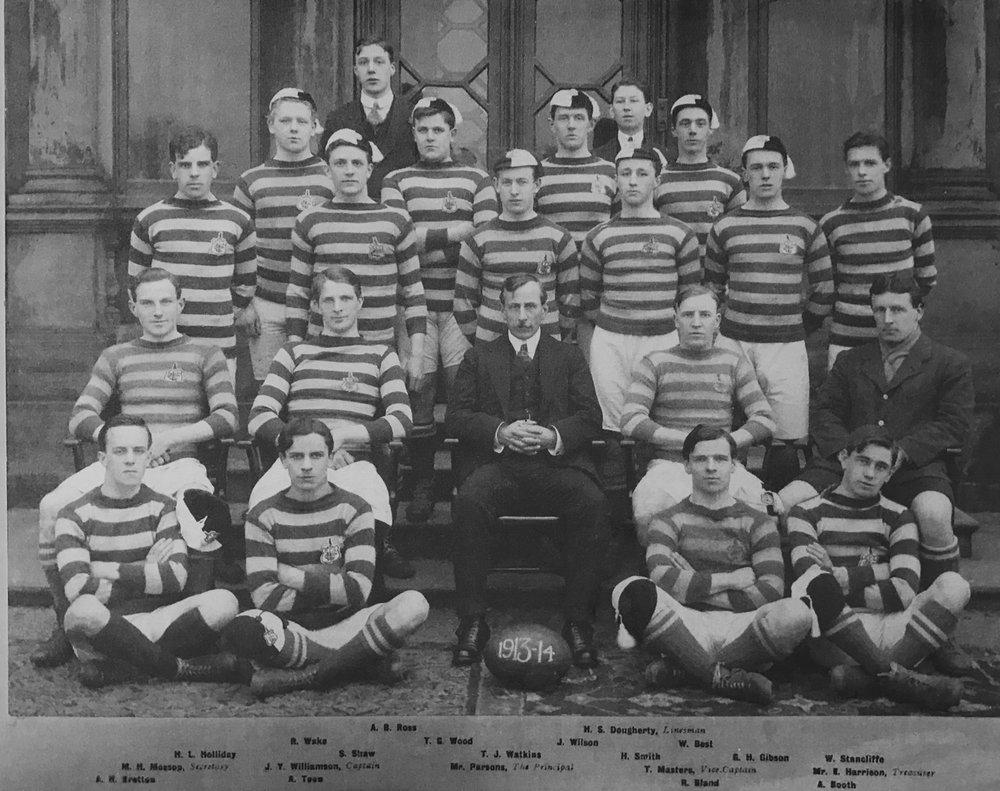 Men's rugby union team, 1913-14 season