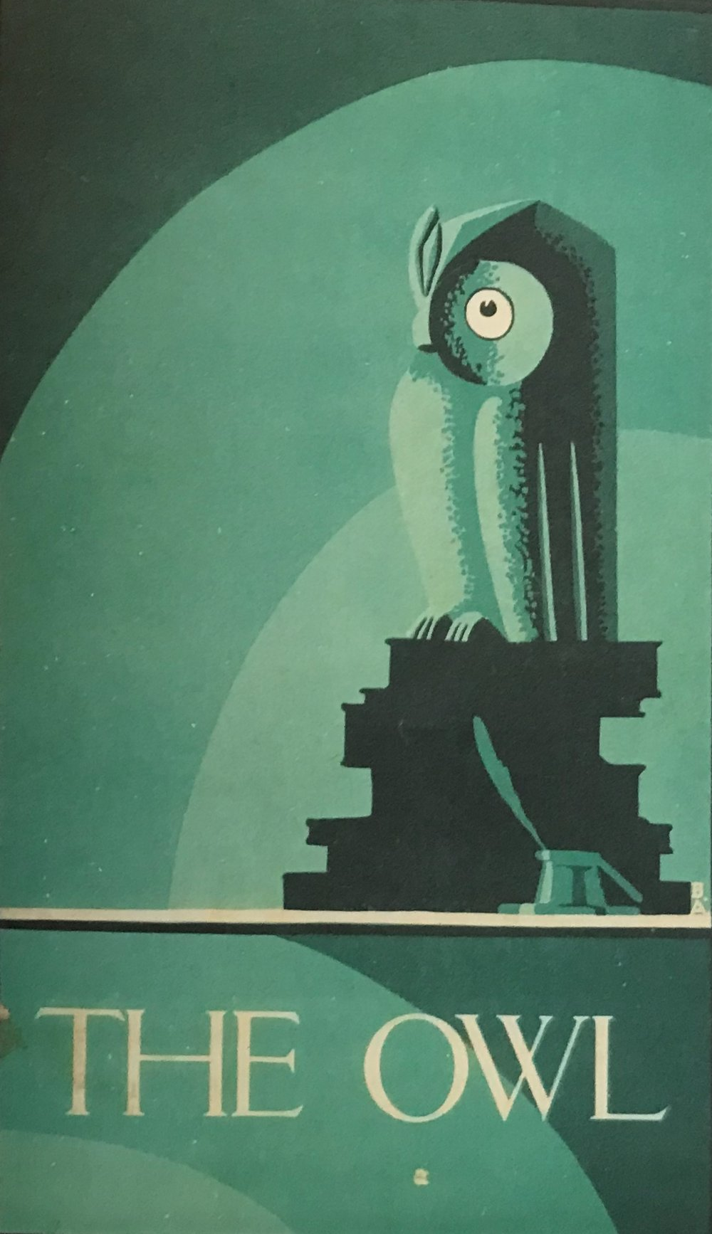 Front cover, The Owl magazine, 1933