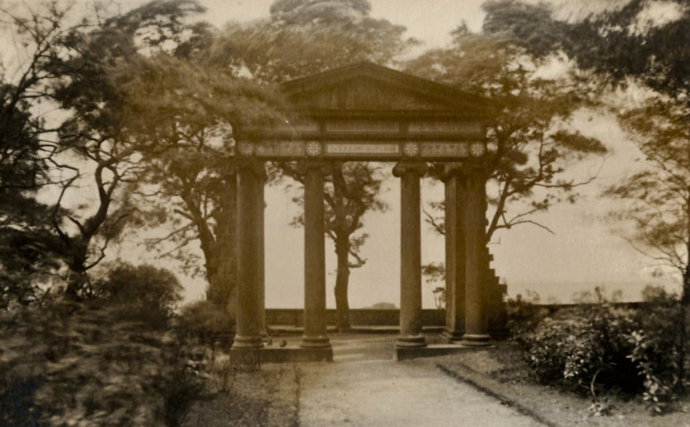Queenswood Monument, 1858, for Queen Victoria's visit to Leeds.  Photo 1909