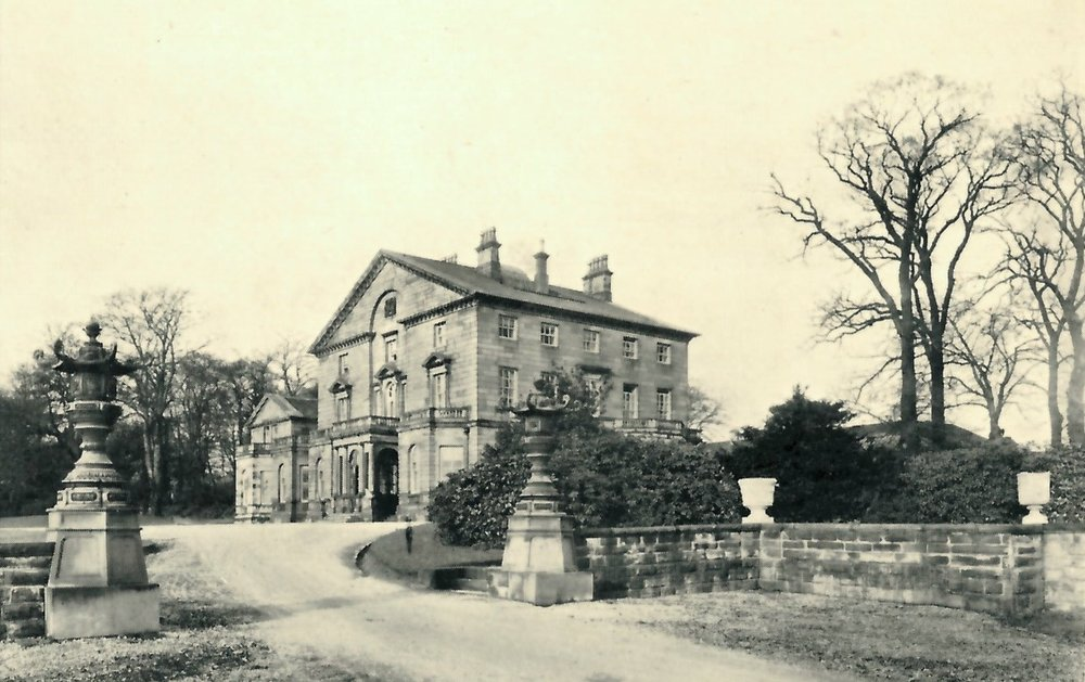 Kirkstall Grange, with Japanese lanterns at entrance