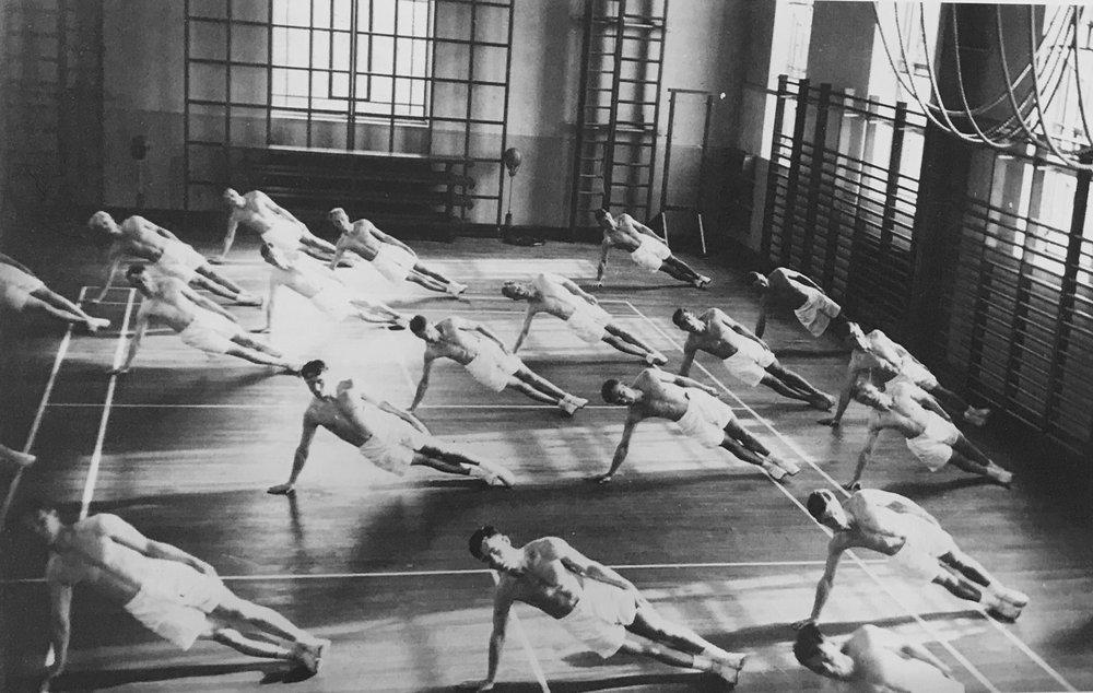 Gymnastic exercises, 1936