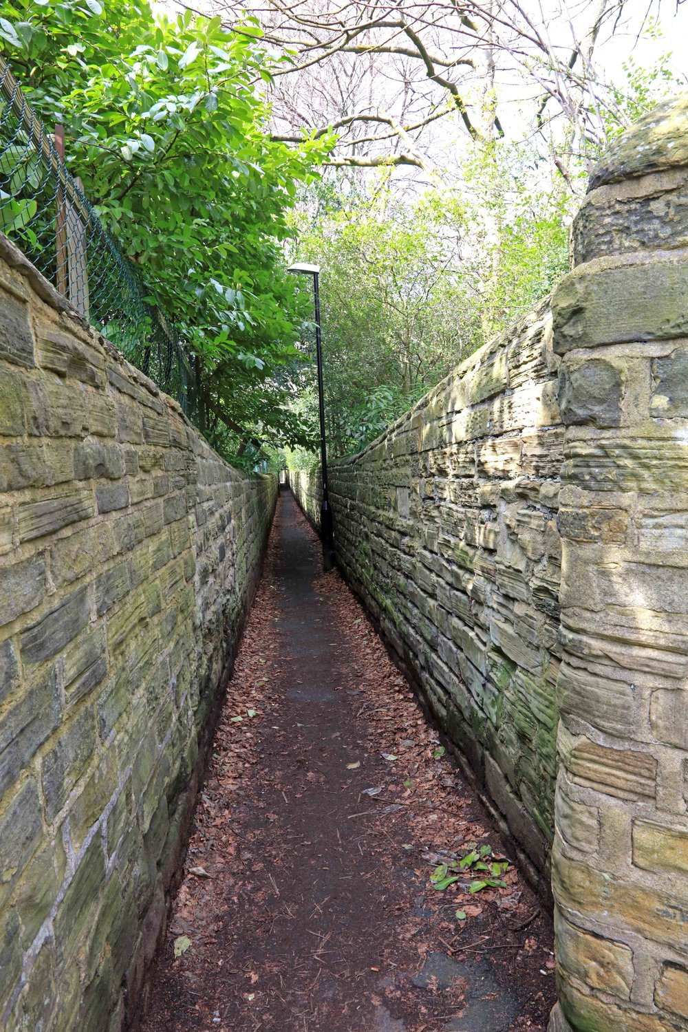 Headingley Hill Ginnel, from Grosvenor Road © JHJ