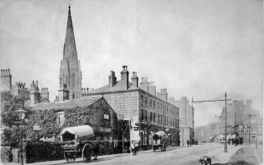Woodhouse Lane, approaching Hyde Park Corner, undated