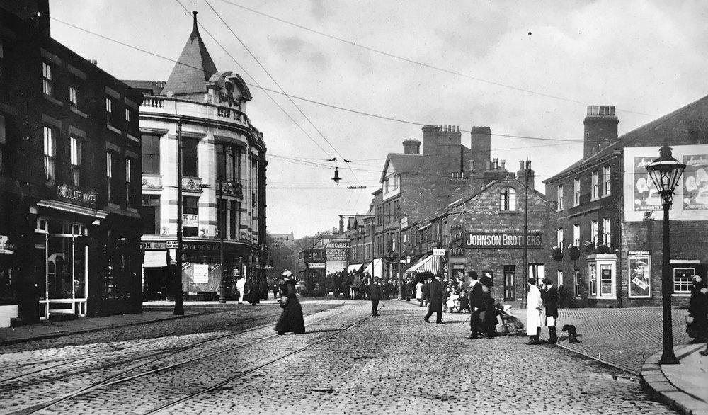 Woodhouse Lane, at Hyde Park Corner, undated