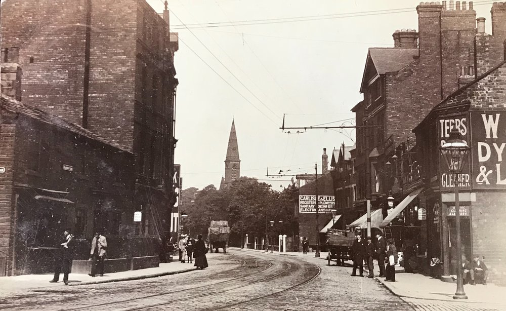 Headingley Lane, leaving Hyde Park Corner, undated