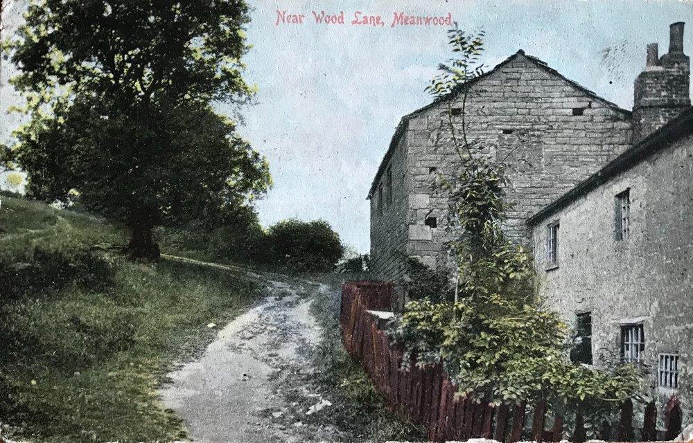 End of Wood Lane, Meanwood, undated