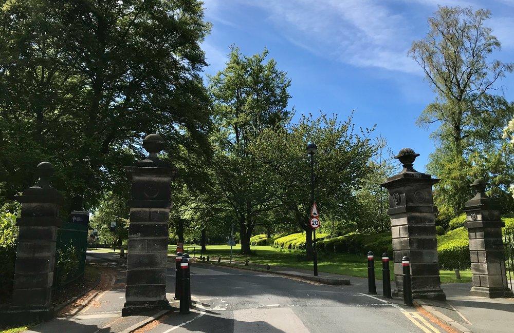 St Chad's Drive Entrance to Headingley Campus, Beckett Park © HP