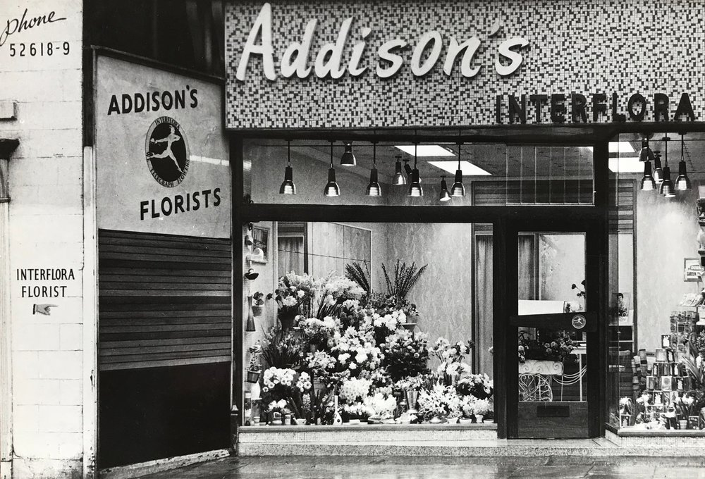 Addison's Flower Shop, Otley Road, 1960s