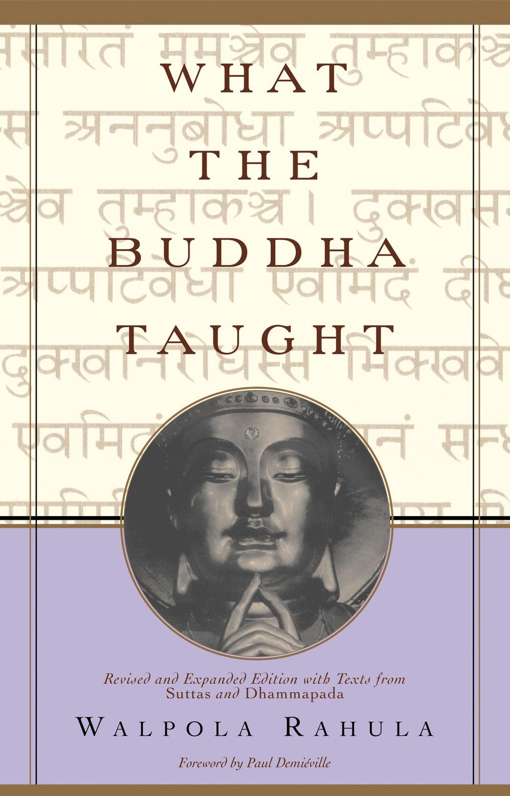What The Buddha Taught- Walpola Rahula