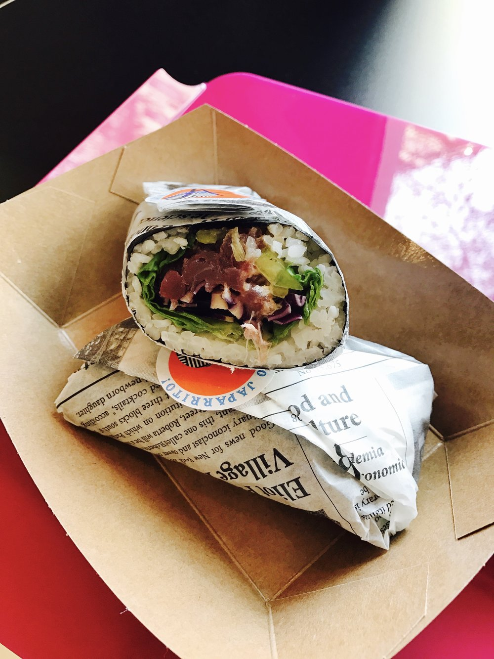 JAPARRITO (Also known as, Sushi burrito, sushirrito, pokerrito)