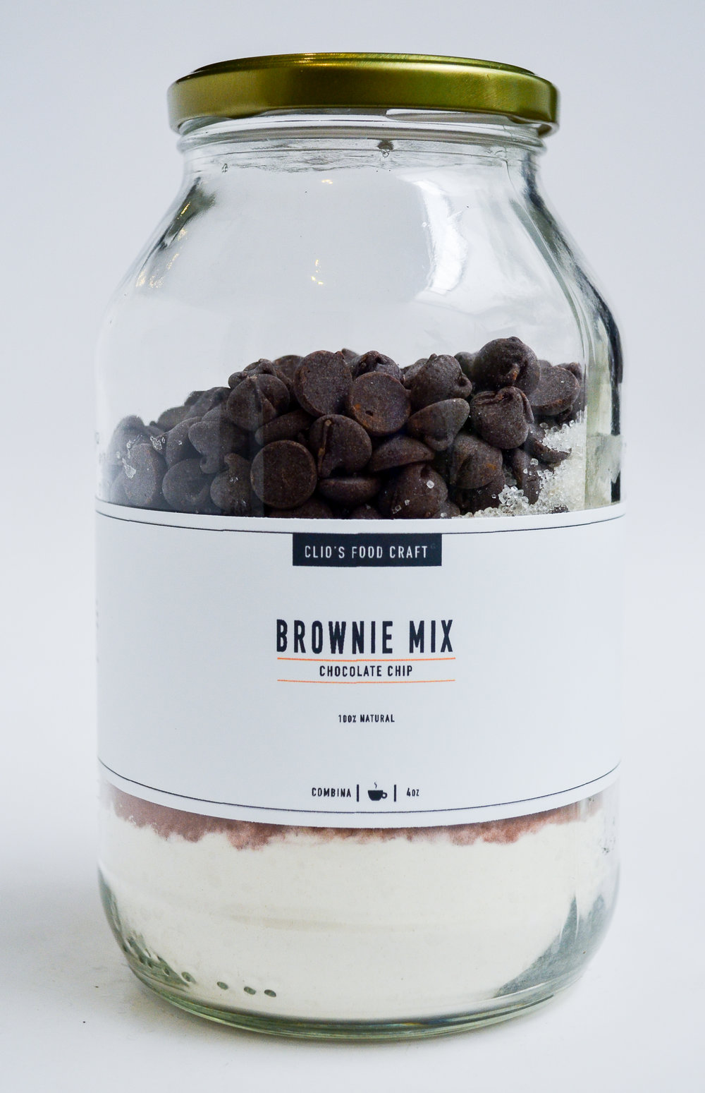 BROWNIE MIX CON CHOCOLATE CHIP - Q.50 4oz