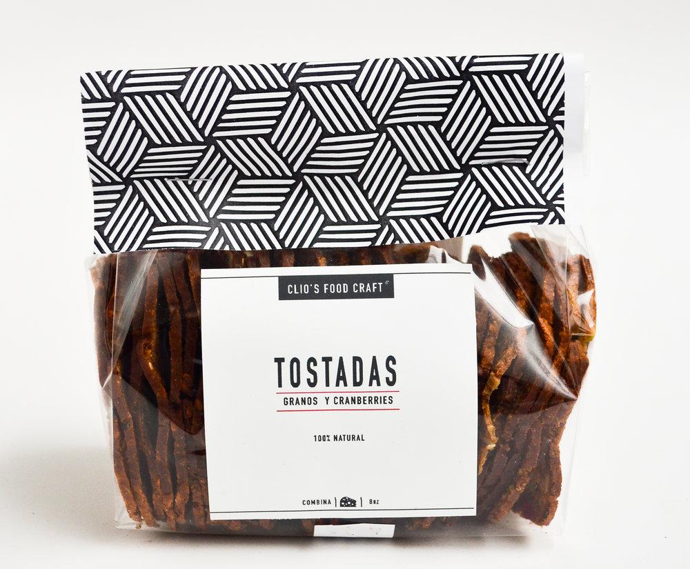 TOSTADAS DE GRANOS Y CRANBERRIES - Q.35   8oz