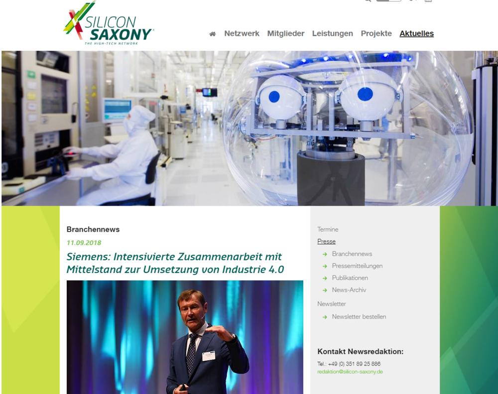 Siemens: Intensivierte Zusammenarbeit mit Mittelstand zur Umsetzung von Industrie 4.0 - Siemens setzt zur Umsetzung von Industrie 4.0 auf eine noch intensivere Kooperation mit mittelständischen Unternehmen.