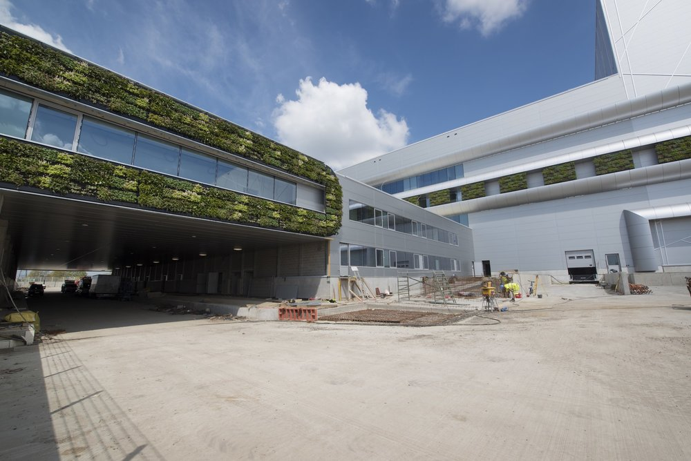Nike Building, Laakdal Belgium with greenwall installation