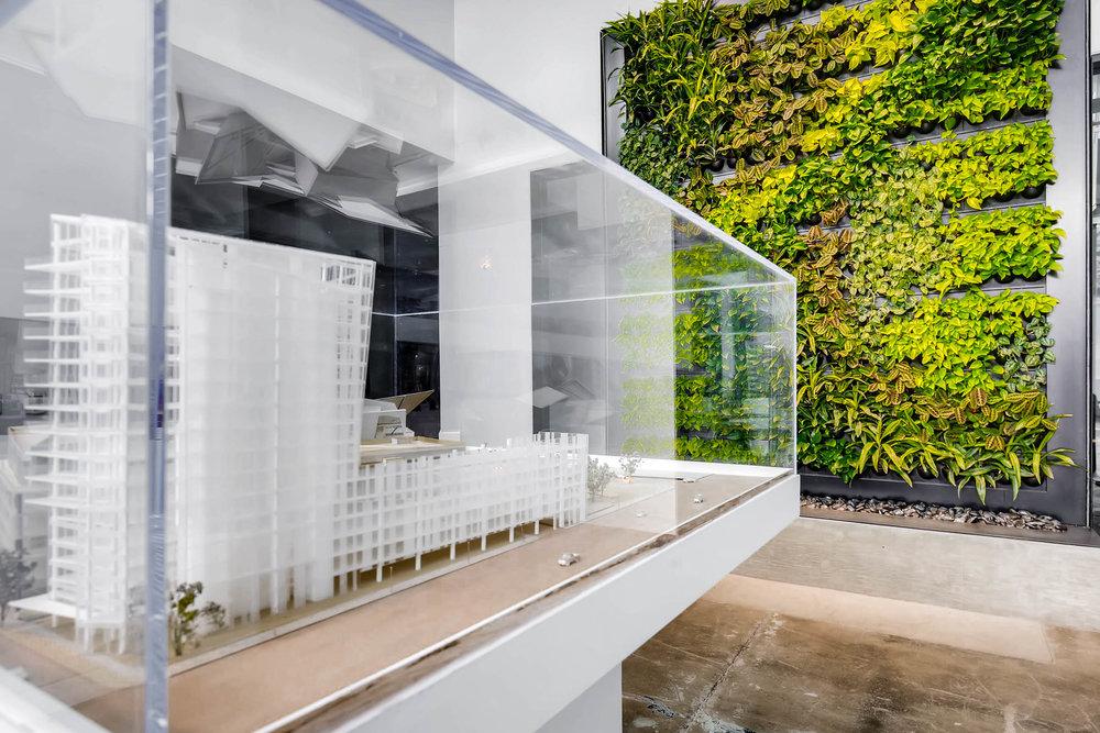 Interior plant wall - Architecture
