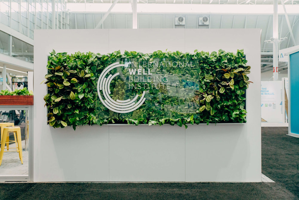 Custom Green Wall for Well Building Institute at Greenbuild 2017