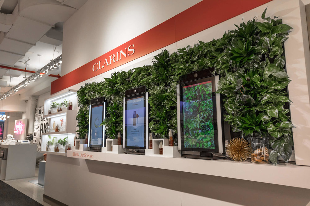 Living Wall for Clarins - Marie Claire Pop-Up Shop, NYC
