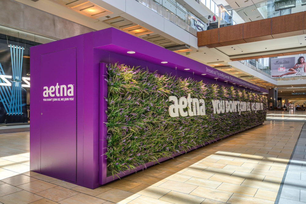 Event Living Wall for Aetna at The Galleria - Houston, Texas