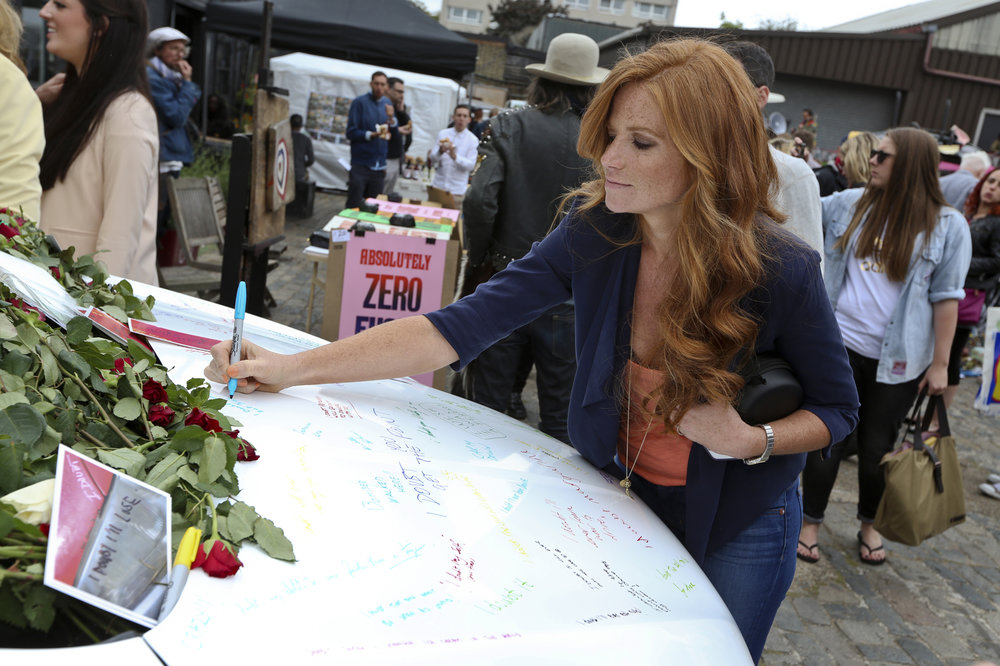 Patsy Palmer at the Vauxhall Art Car Boot Fair 2013 (12).jpg