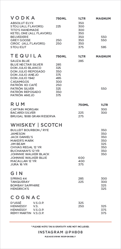 BOTTLE MENU 2