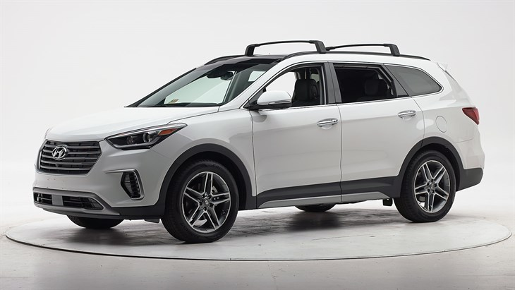 2018 Hyundai Santa Fe - with optional front crash prevention and specific headlights