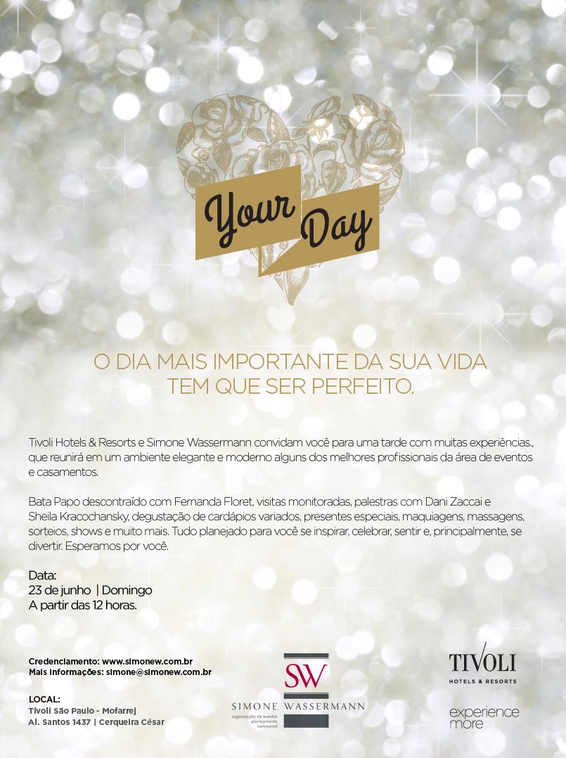 CONVITE YOUR DAY SIMONE&TIVOLI