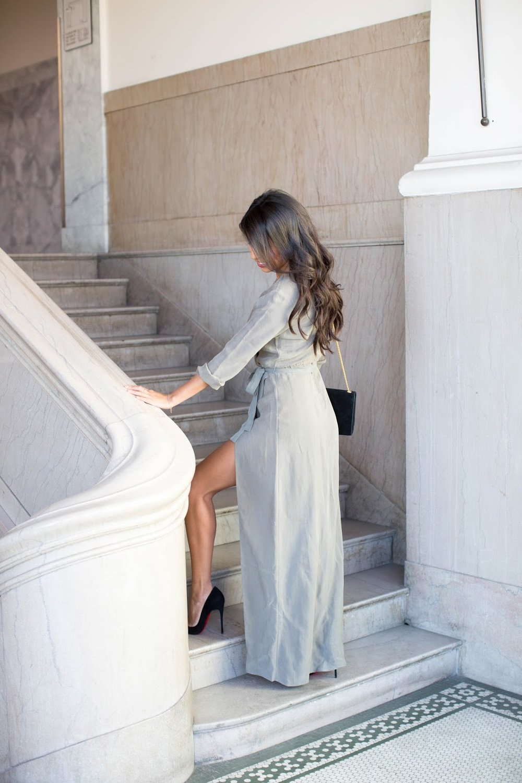 352f683d08 again dress, angelina jolie dress, thigh high slit dress, holiday outfit