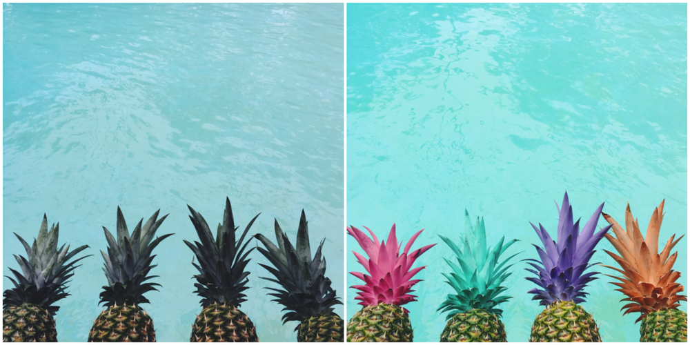 Pretty painted pineapples water background | DIY Beach Party Ideas For Your Beach-Themed Celebration