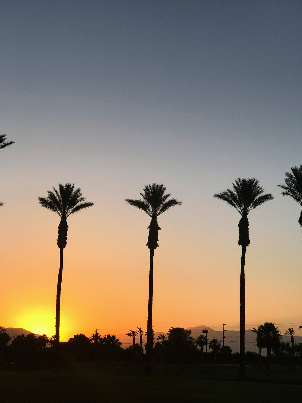 Sunset @ JW Marriott Palm Desert