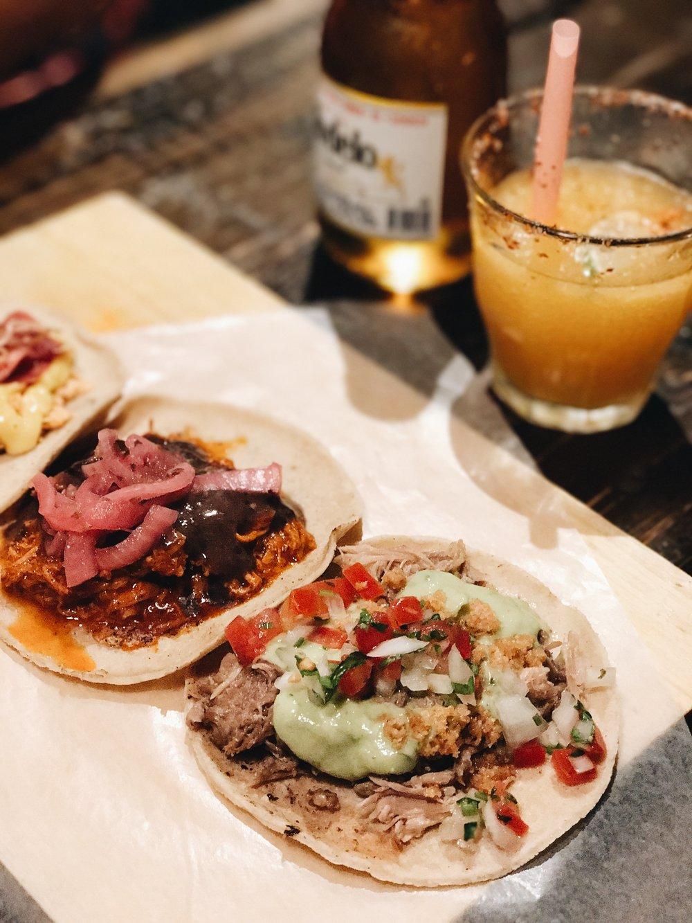 Tacos at local restaurant near Generator Bercelona