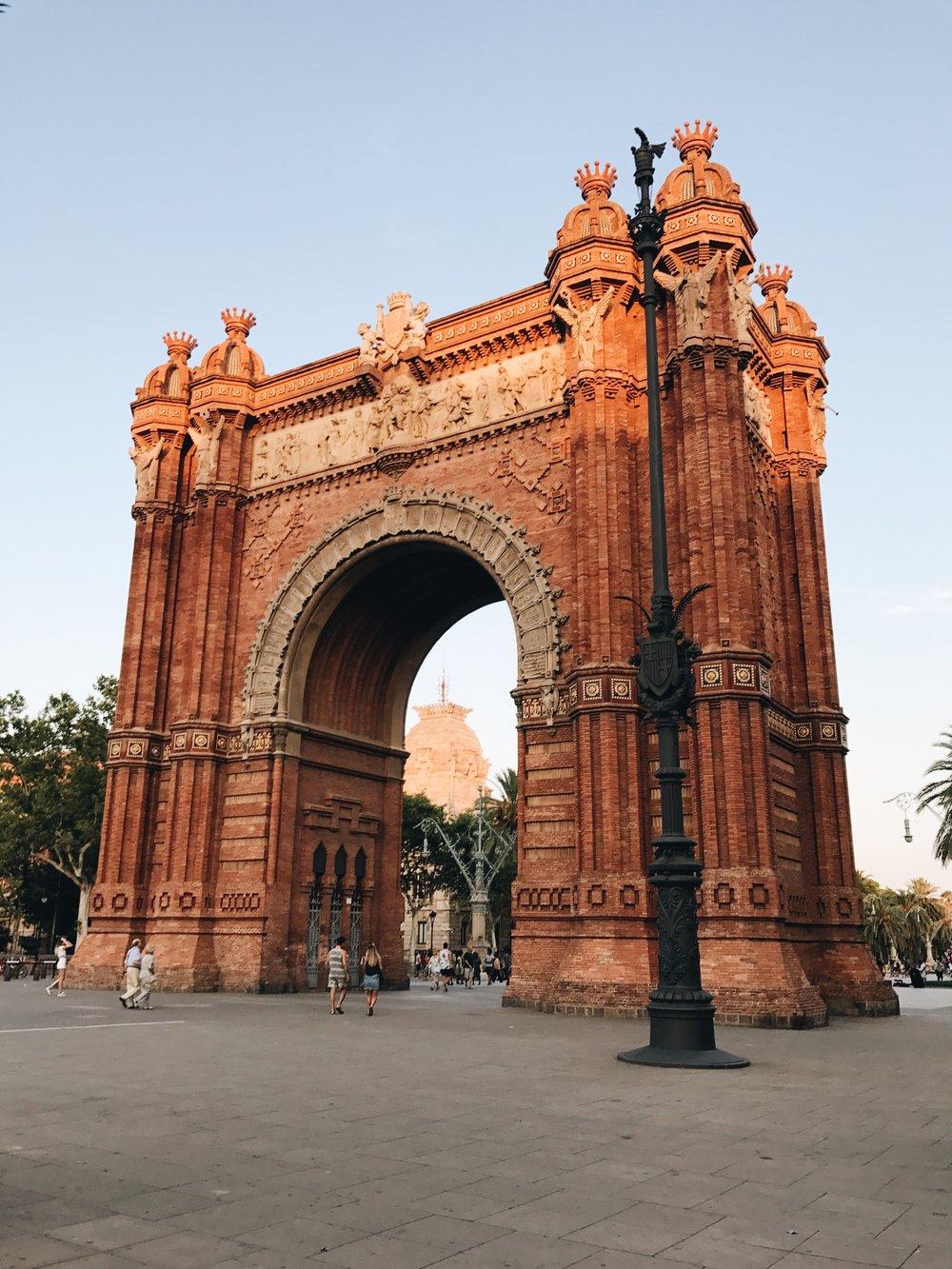 Arc de Triomf Barcelona Spain