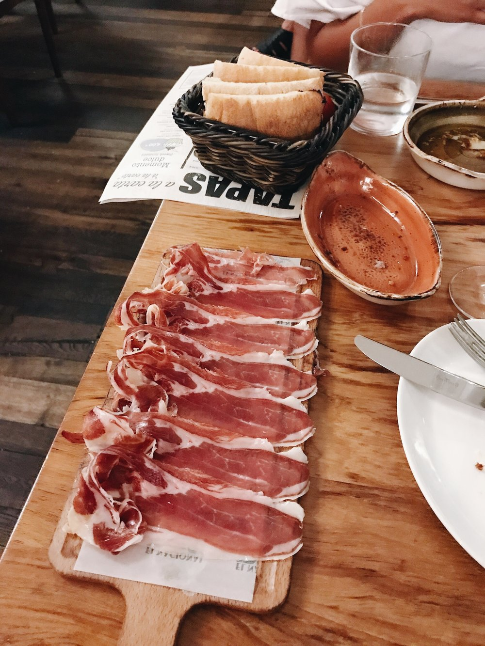 Where to eat in Spain: Iberian Ham at El Nacional in Barcelona