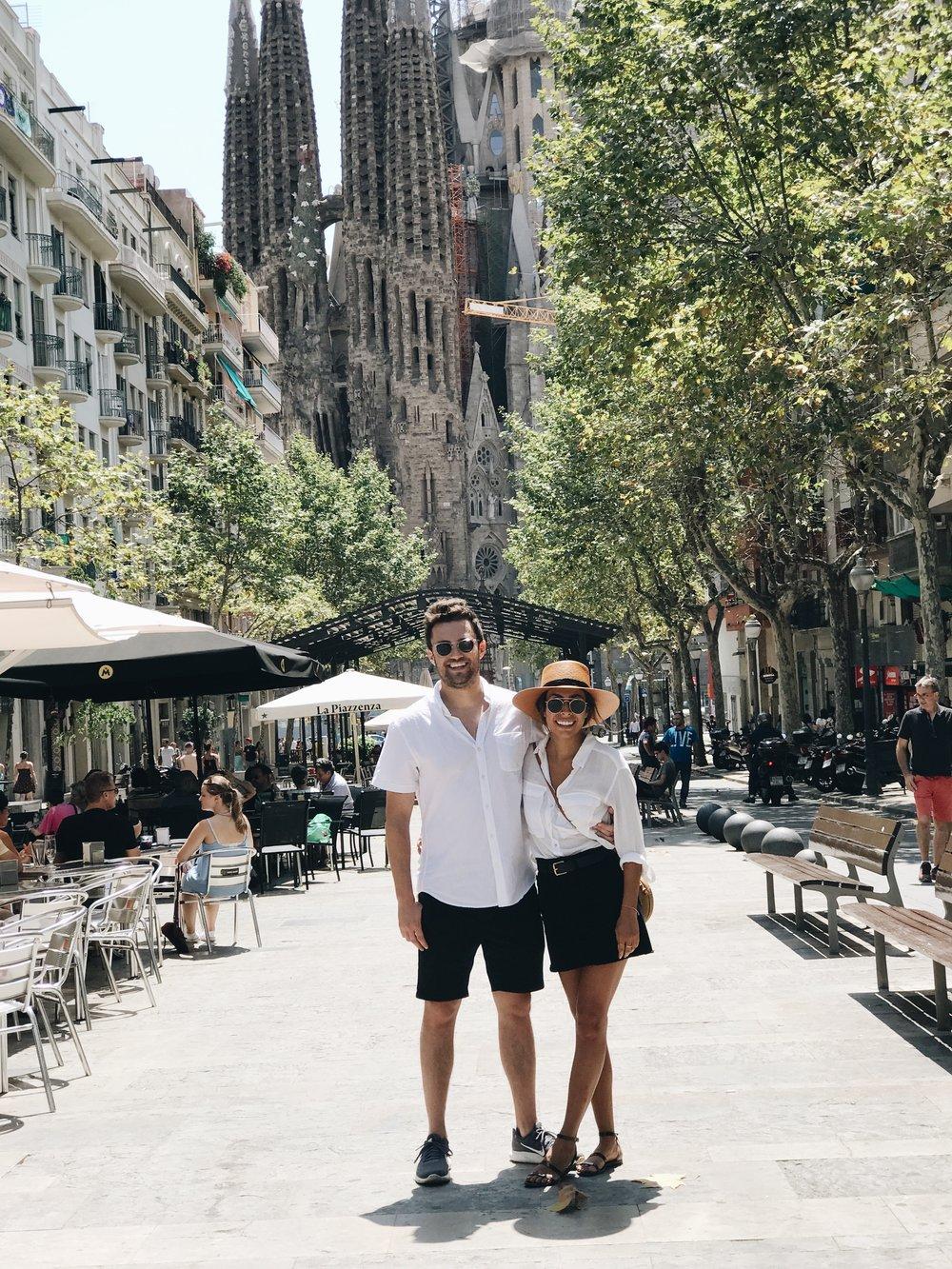 Andy + Ashley at Sagrada Familia