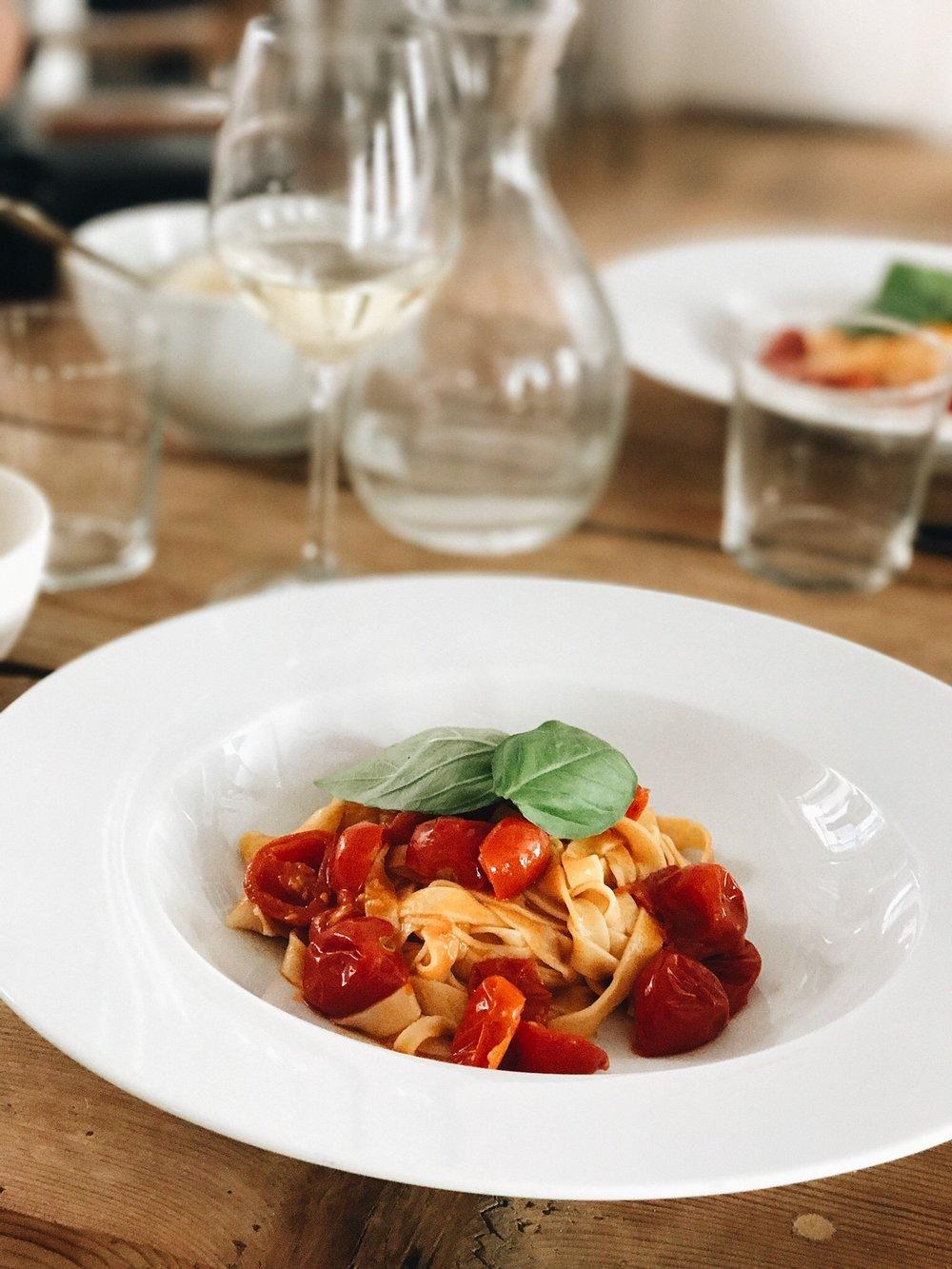 Tagliatelle pasta - pasta making class Rome, italy